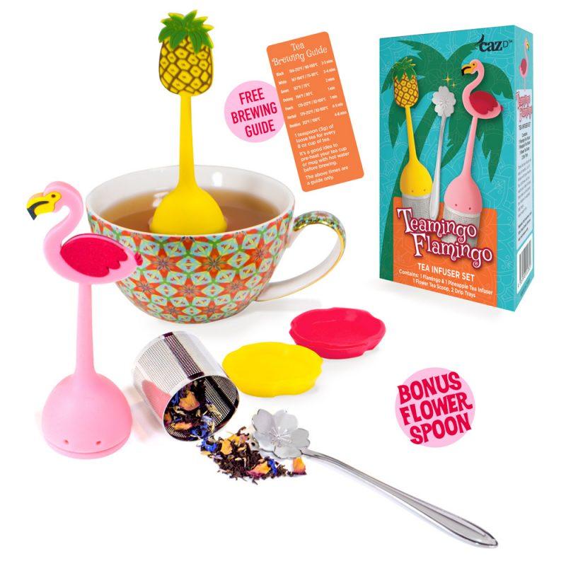 Cute Fun Fine Mesh Flamingo Tea Infuser
